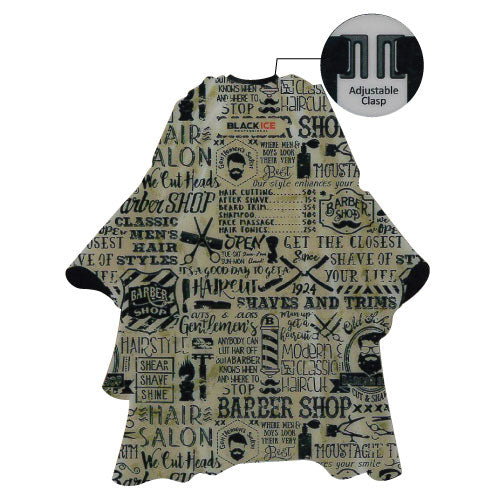 Black Ice Barber Cape