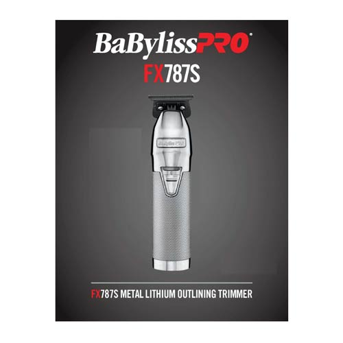 Babyliss PRO Silver FX Skeleton Cordless Trimmer - FX788S