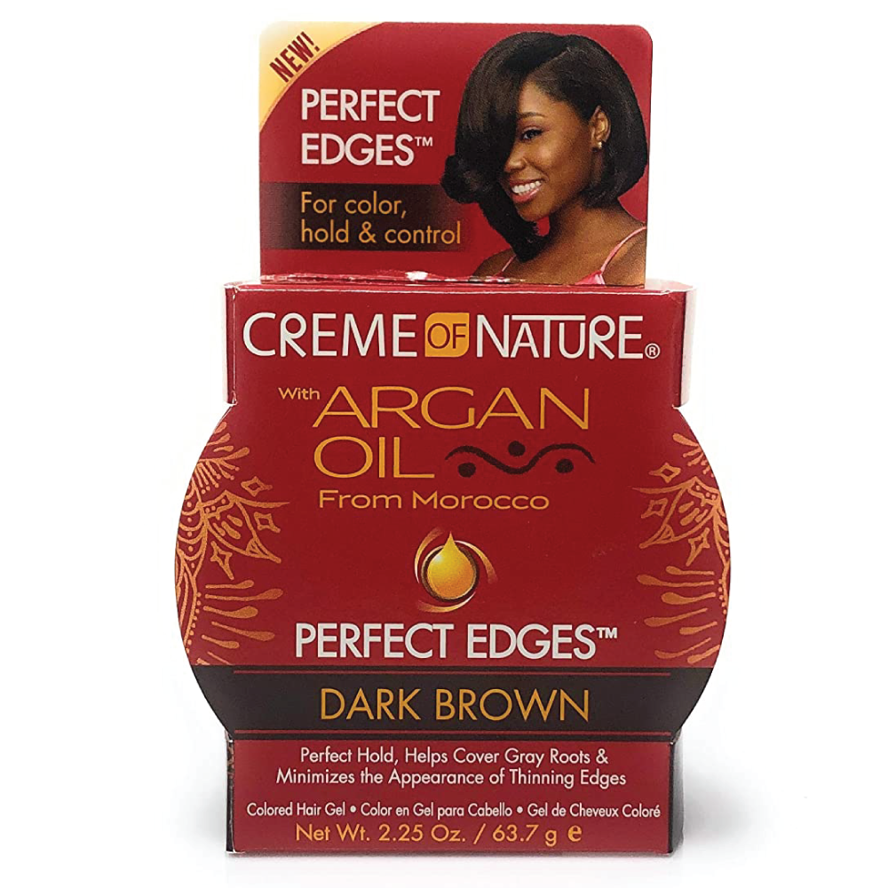 Creme Of Nature Argan Oil Perfect Edge Dark Brown  2.25oz