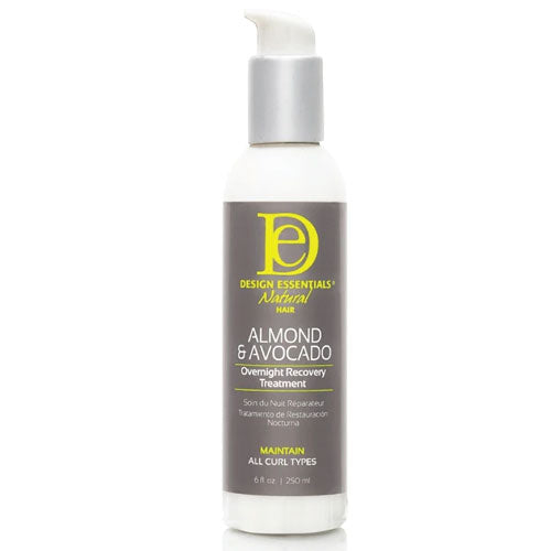 Design Essentials Almond & Avocado Overnight Recovery Treatment, 6oz bottle