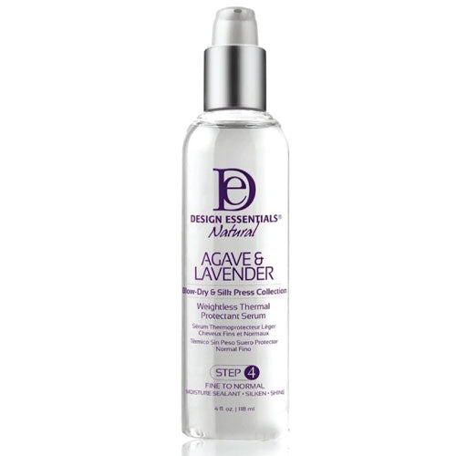 Design Essentials Agave & Lavender Weightless Thermal Protectant Serum Step4, 4oz