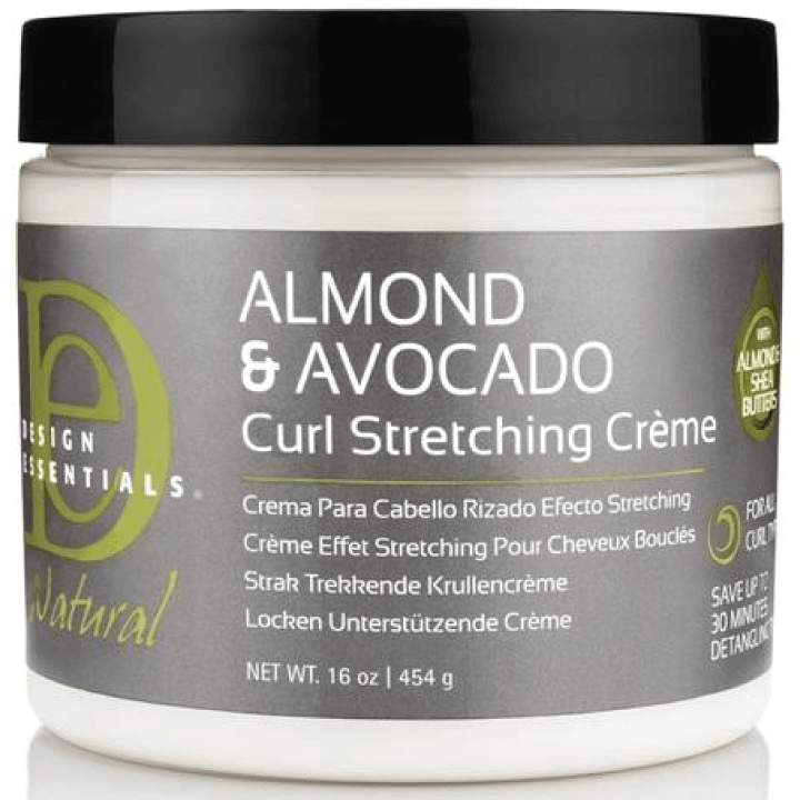 Design Essentials Natural Almond & Avocado Curl Stretching Creme, 16oz tub