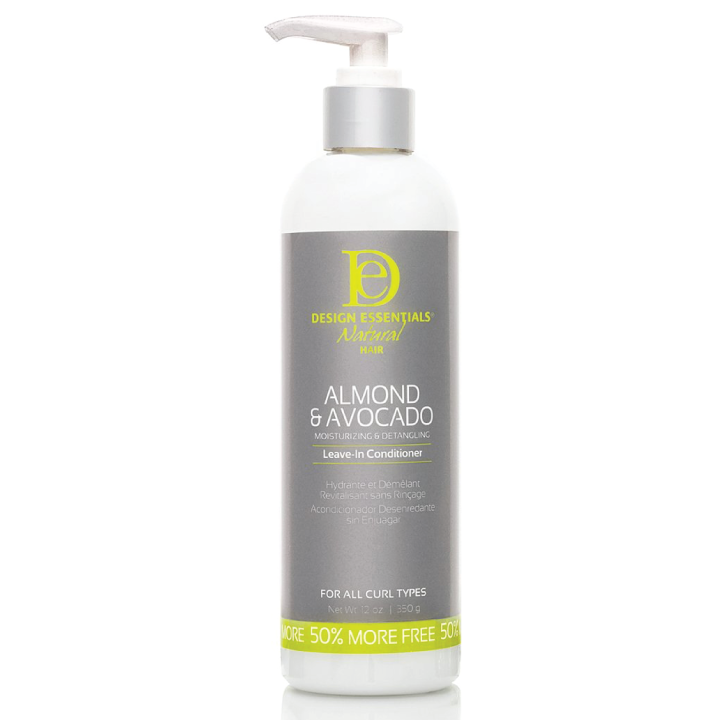 Design Essentials Natural Almond and Avocado Detangling Leave-in Conditioner, 12oz bottle