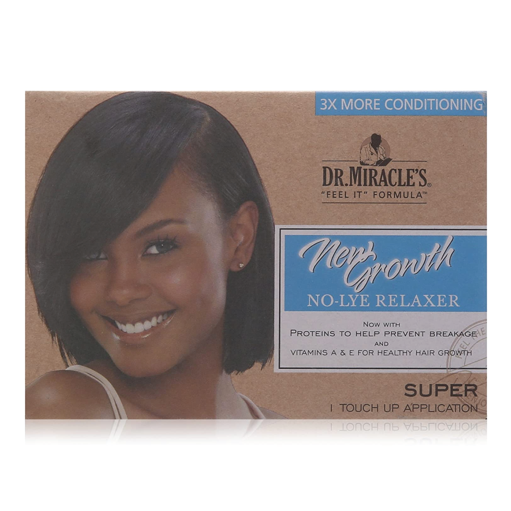 Dr.Miracle's New Growth No-Lye Relaxer Kit Super