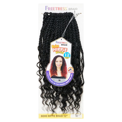 Freetress Crochet Braid Boho Hippie Braid 12 Inch