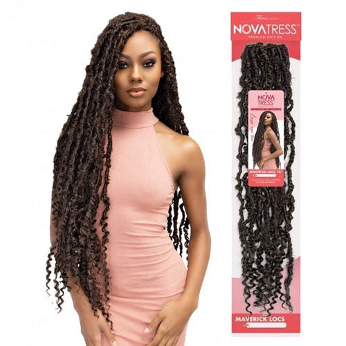 Femi Collection Nova Tress Crochet Braid Maverick Locs 28 Inch