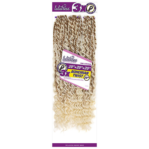 Lulutress Crochet Braid 3X Bohemian Twist 20 Inch