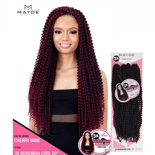 Mayde Beauty Crochet Braid 3X Bohemian Curl 20 Inch