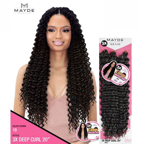 Mayde Beauty Crochet Braid 3X Deep Curl 20 Inch