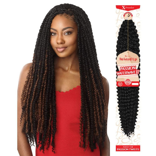 X-Pression Twisted Up Crochet Braid Passion Water Wave II 22 Inch
