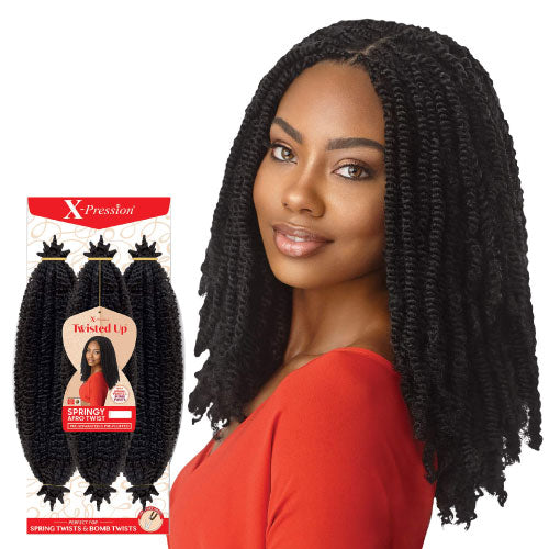 X-Pression Twisted Up 3X Springy Afro Twist 16 Inch