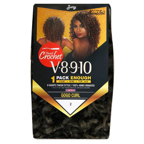 Zury Crochet Braid V8.9.10 (1Pack enough) Gogo Curl