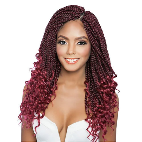 Afri-Naptural Crochet Braid 3X Curly Ends Box Braid 14 Inch
