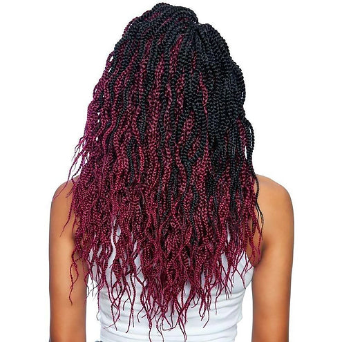 Afri-Naptural Crochet Braid 3X Wavy Box Braid 14 Inch