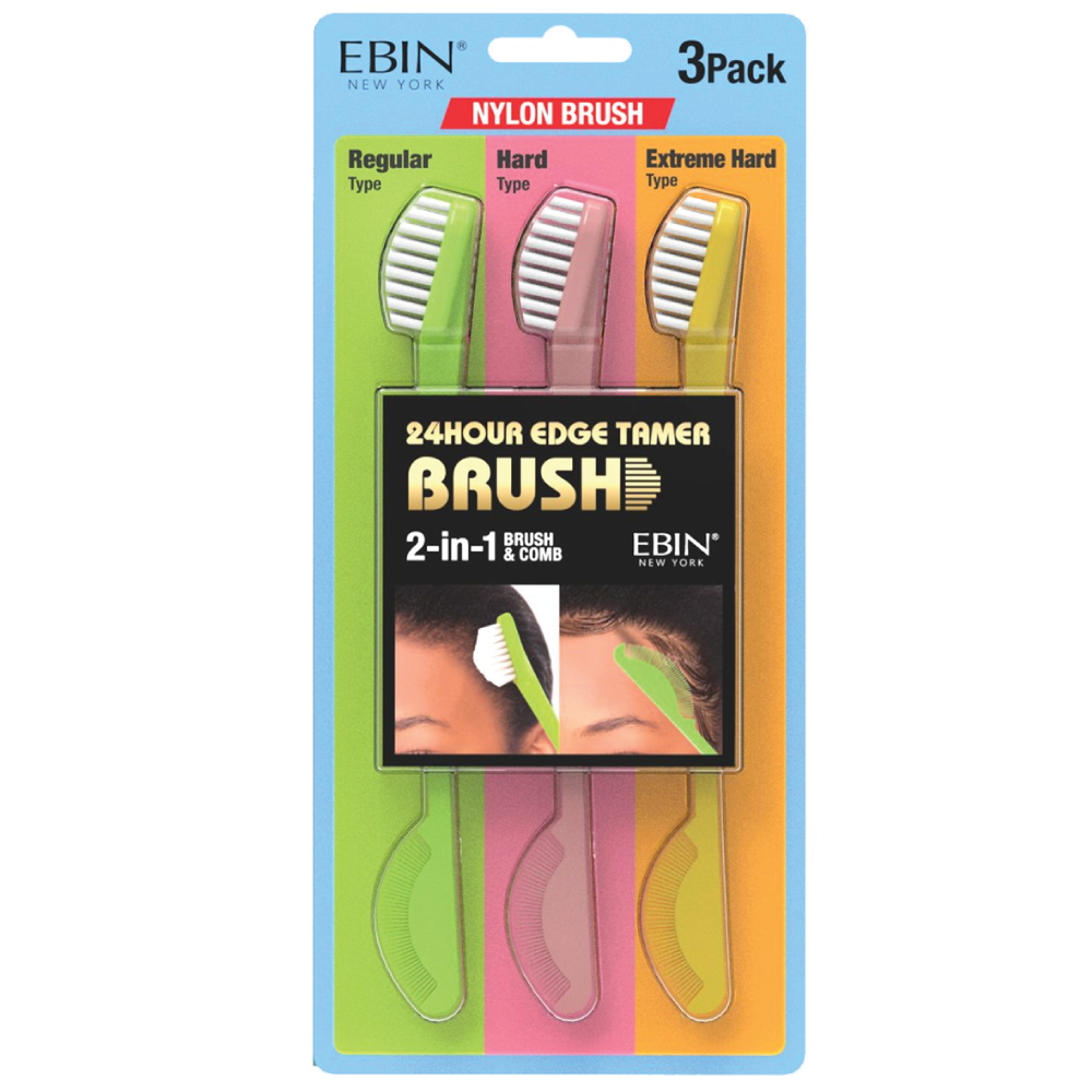 EBIN NYLON EDGE BRUSH 3 Pack