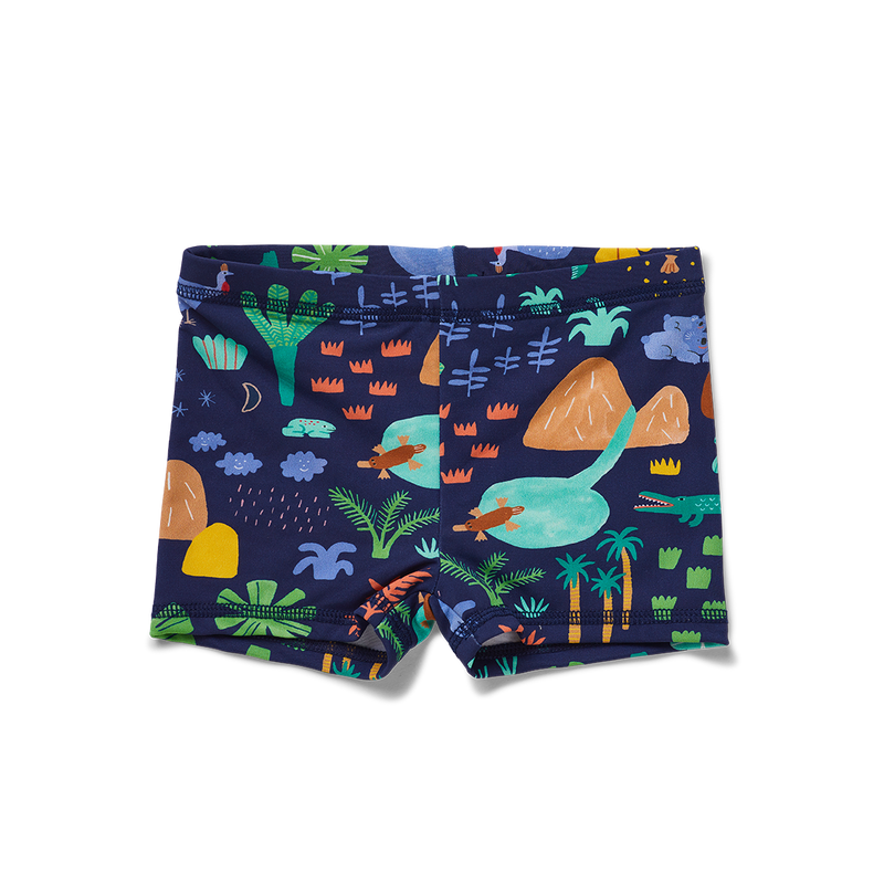 Beach Forest Baby Swim Shortie