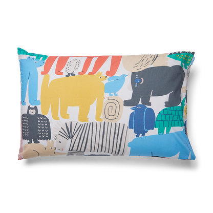 Animal Parade Pillow Case - Available 27 Feb