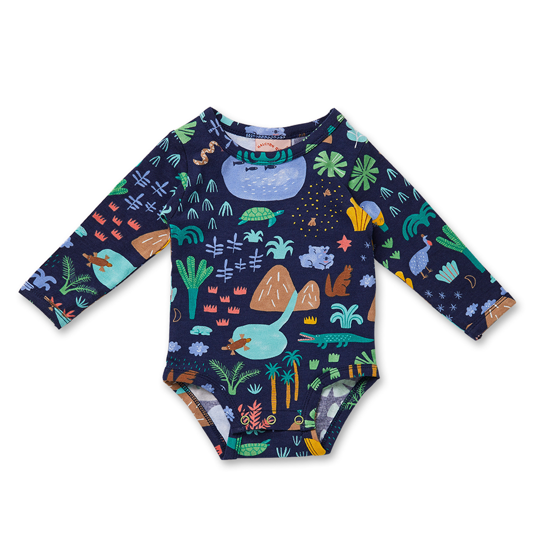 Beach Forest Long Sleeve Bodysuit