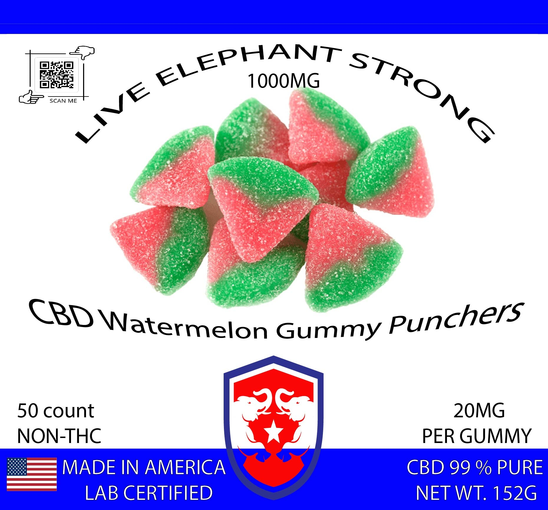 CBD Watermelon Gummies Flavor 20mg