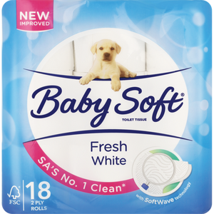 Baby Soft White 2 Ply Toilet Rolls 18 Pack