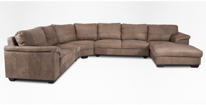 Breen Leather Corner With Daybed, Left or Right