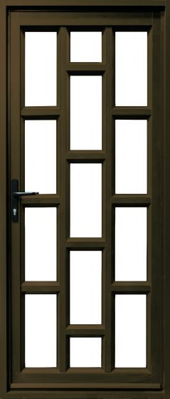 Door & Frame Aluminium Brick Glass 900x2100 LH Bronze
