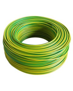 Housewire  1.50mm Green/Yellow (100m/Roll) Housewire 1.50mm Green/Yellow (100m/Roll) 1315036