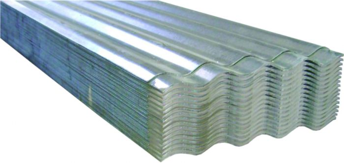 Corrugated Iron 0.27mm Galv Z100 8.5 (610 Cover) 4.800m