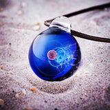 Planet Neptune - galaxy necklace - Helios jewelry