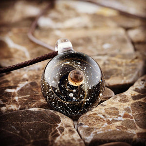 Planet Mars - galaxy necklace - Helios jewelry
