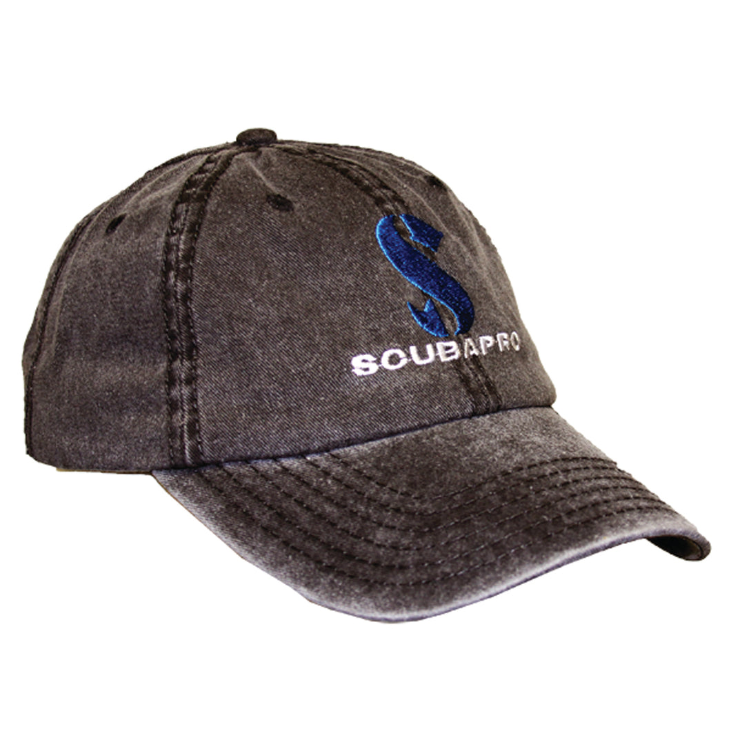 SCUBAPRO CANVAS CAP, BLACK, ONE SIZE