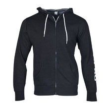 Load image into Gallery viewer, CHARCOAL GRAY ZIP-UP HOODIE