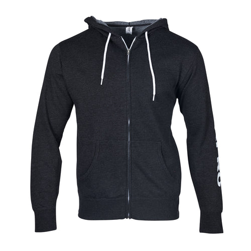 CHARCOAL GRAY ZIP-UP HOODIE