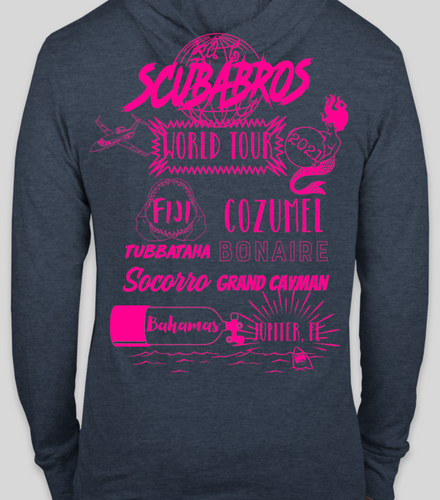 Scubabros World Tour 2021 Lightweight Hoodie