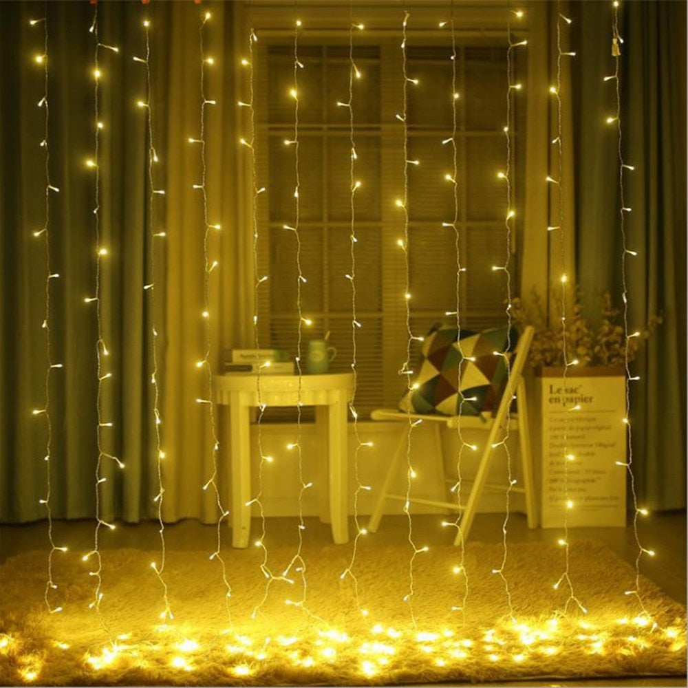3x2/4x2/6x3m led wedding fairy string light christmas light 300 led fairy light garland for garden party curtain decoration - 9020shop