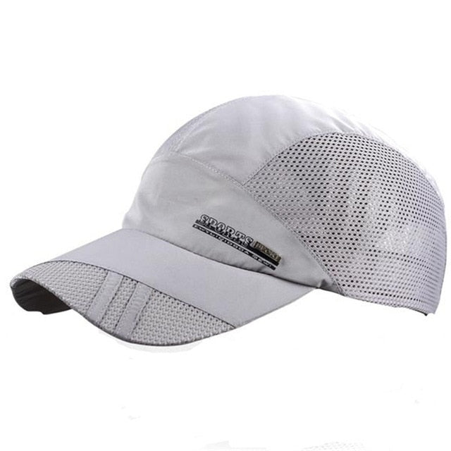 Fashion Mens Summer Outdoor Sport Baseball Hat Running Visor Cap Hot Popular 2019 New Cool Quick Dry Mesh Cap 6 Colors Gorras - 9020shop