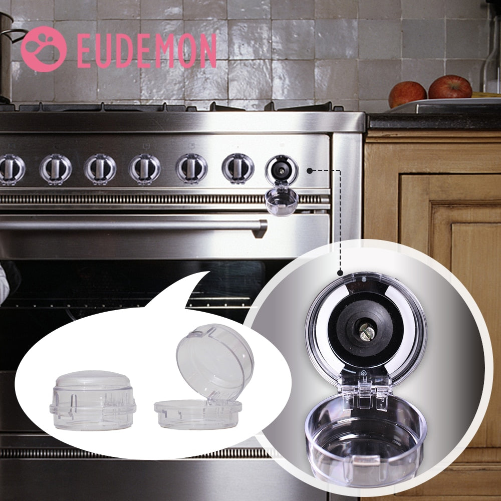 EUDEMON 6pcs Child Protection Home Kitchen Oven Gas Cooker Button Knob Control Switch Protective Cover Protector Security Lock - 9020shop