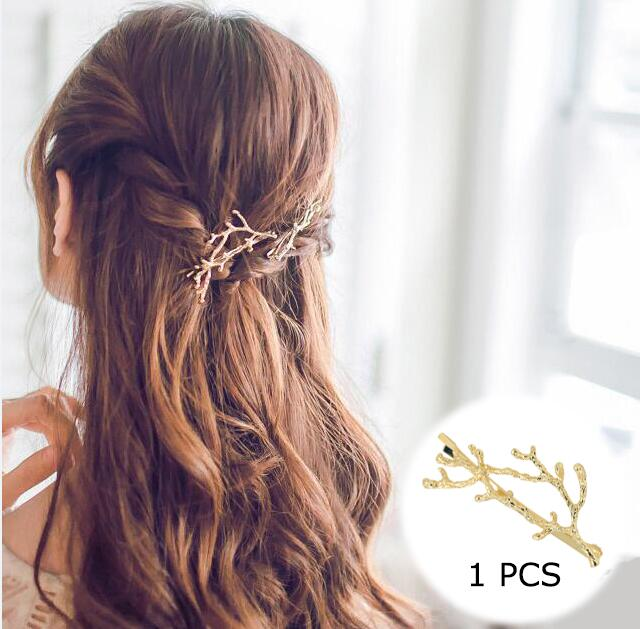 Hair Clip For Women Scissors Diamond Round Moon Leaf Unicorn Heart Simple Golden Silver Girl Fashion Gift Charm - 9020shop