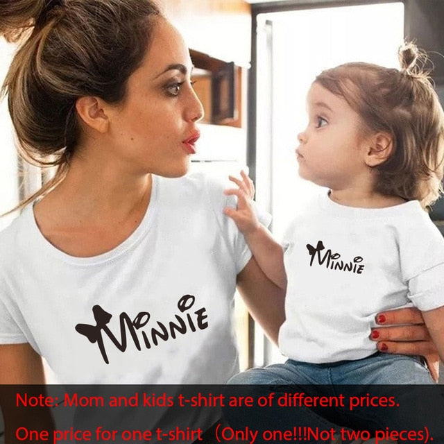 Gourd doll family matching clothes T shirt Women son daughter mum T shirt tops kids baby girl boys casual T shirt - 9020shop