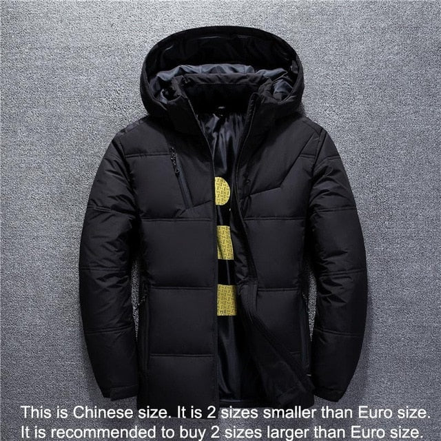 New Winter Jacket Men High Quality Fashion Casual Coat Hood Thick Warm Waterproof Down Jacket Male Winter Parkas Outerwear - 9020shop