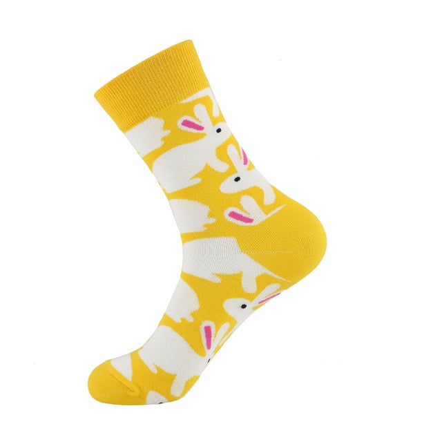 Cotton funny Socks Women &Men New 2019 cute Autumn Winter New Year Santa Claus Christmas Fruit Animal Fish Happy Socks PEONFLY - 9020shop