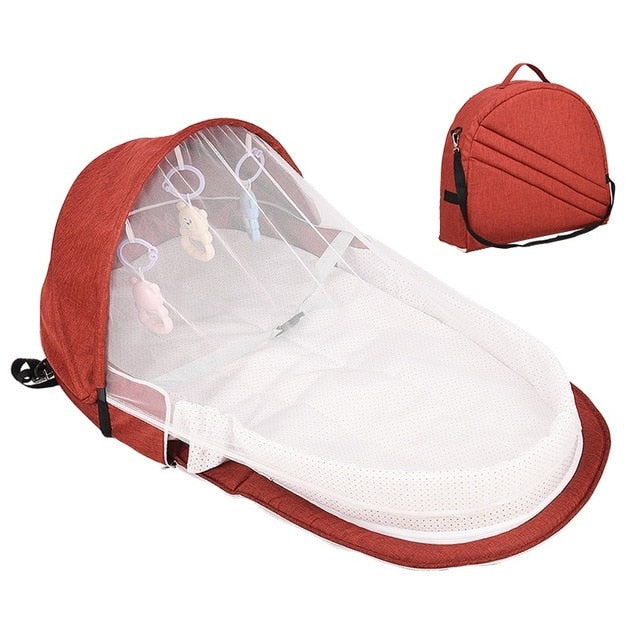 High Quality Foldable Portable Bassinet Breathable Mosquito Net Travel Sun Protection New Infant Sleeping Basket With Gift Toys - 9020shop