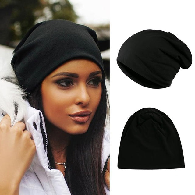 2019 Casual Fashionable Winter Autumn Warm Comfortable Hip Hop Kitting Cap Men Women Solid Color Casual Wool Cap Hat Gifts - 9020shop