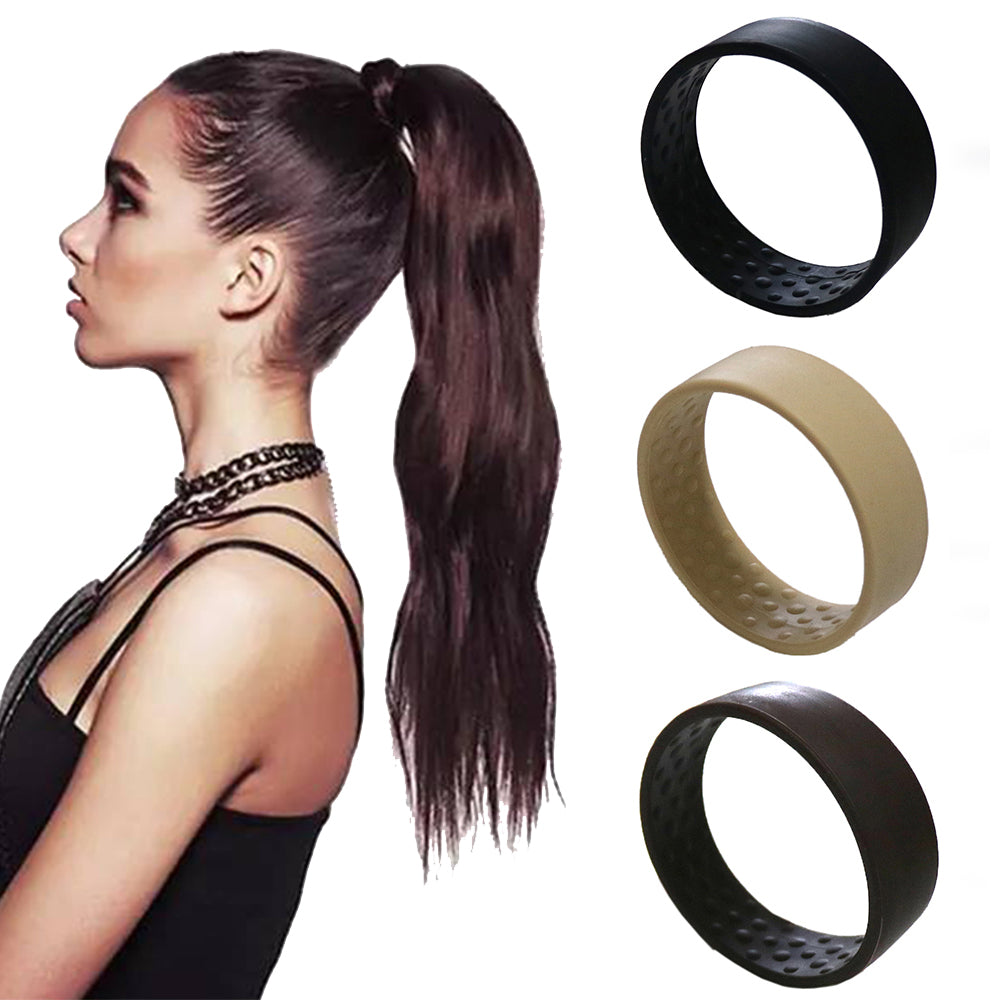 New Silicone Foldable Stationary Elastic Hair Bands For Women Ponytail Holder Simple Multifunction O Hair Tie Accessories - 9020shop