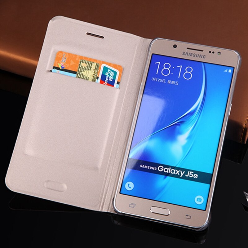 Slim Leather Wallet Case Flip Cover With Card Holder Phone Carrying Bag Mask For Samsung Galaxy J5 2016 J510 J510F J510H J510M - 9020shop