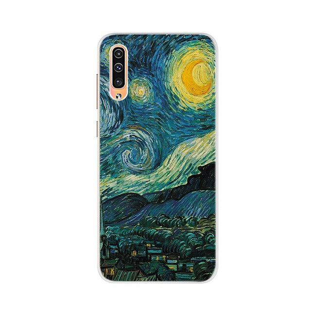 For New Samsung Galaxy A50 A505F-DS soft silicone back mask cover for samsung a 50 a50 a505f phone case catoon cat cover - 9020shop