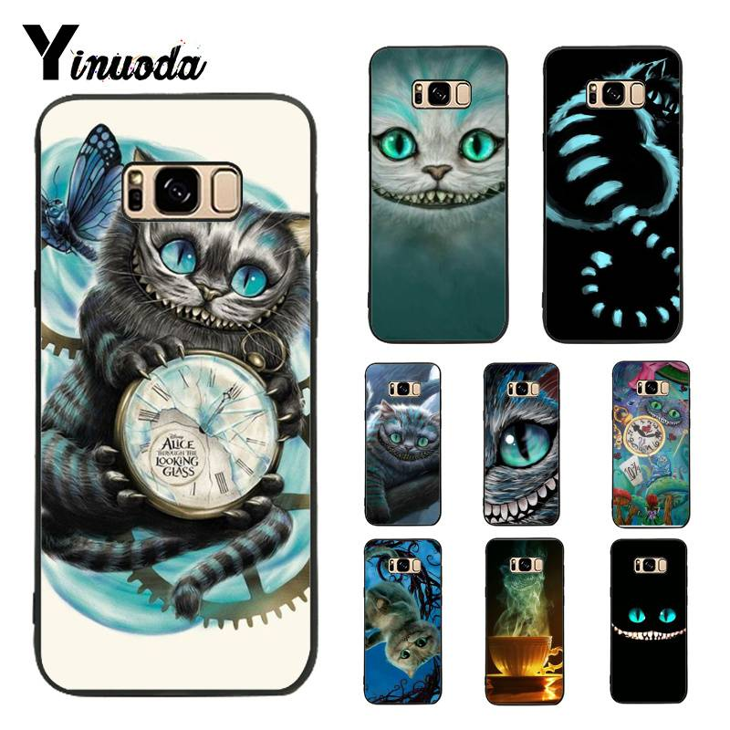 Yinuoda Case for Galaxy S9 Alice in Wonderland Chesire Cat Mask Ultra Thin Pattern Phone Case For Samsung Galaxy S5 S6 S7 S8 S9 - 9020shop
