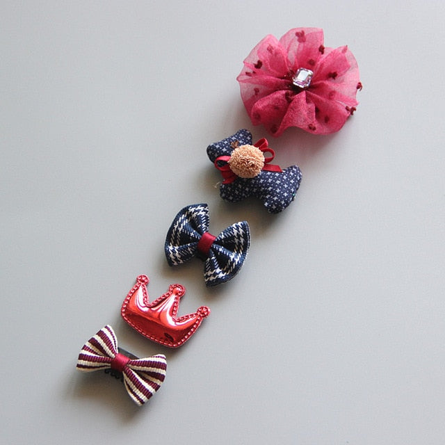5Pcs/Set Baby Hair clip Set Baby Headband Accessories Cross Kid Hair Clip Cartoon Girl Hair Clip Baby Barrettes Hair Accessories - 9020shop