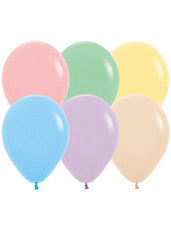 5'' Pastel Assortment Latex Balloons