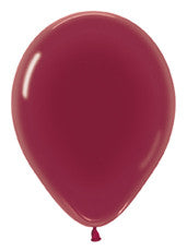 "11"" Crystal Burgundy Latex Balloon"